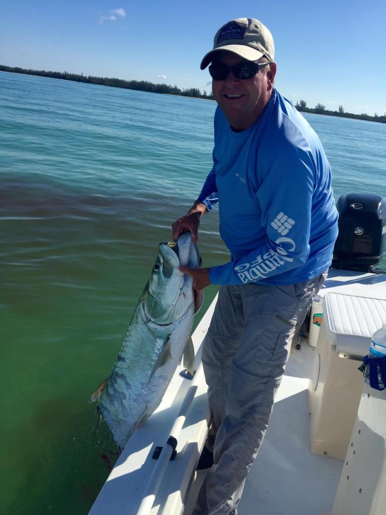 There are still some tarpon around, but also some huge sharks! This big tarpon was bitten in half by a 13 foot hammerhead on 6/9/15.