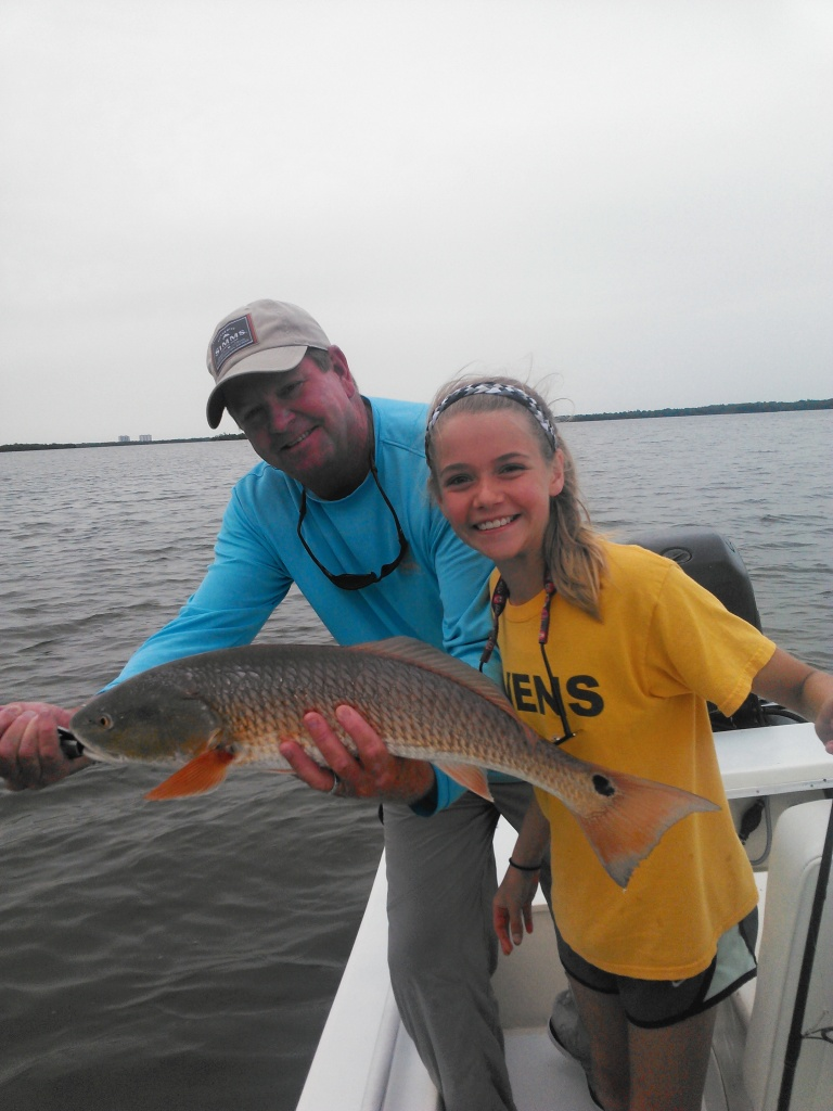 Audrey follows up with a 26 inch redfish