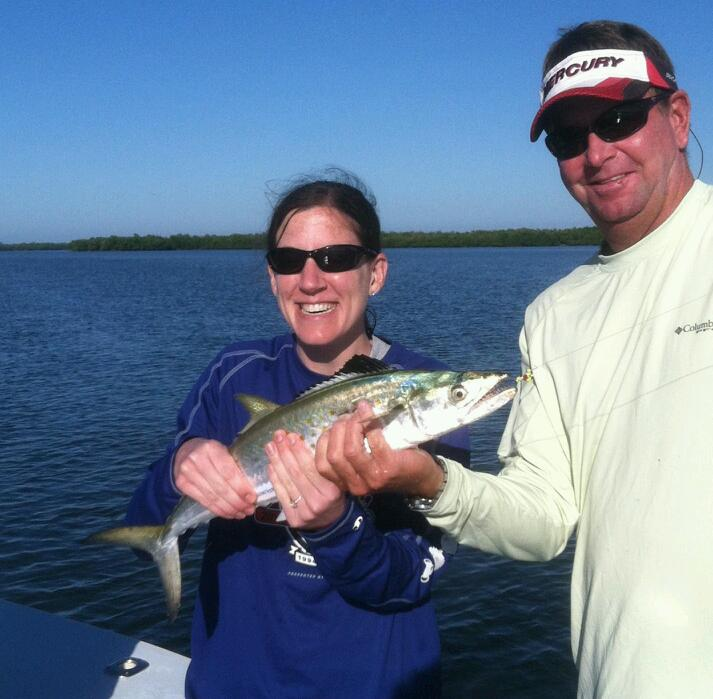 Large spanish mackerel were just one of over 15 different species caught last week with Capt. Todd Geroy