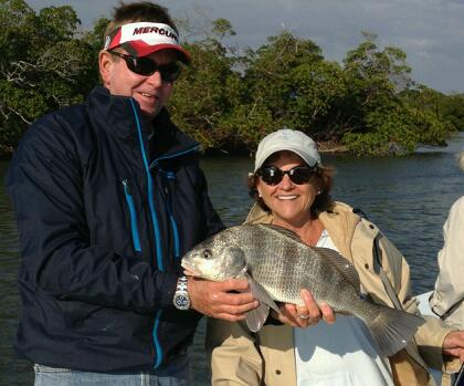 Black drum are scrappy fighters and provide great aciton on a chilly day. Not bad on the plate either.