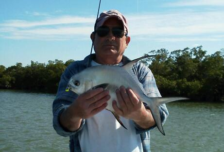 These small permit put up a great fight on light tackle...