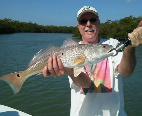 Another nice redfish boated with Capt. Todd during the last week of January 2013!