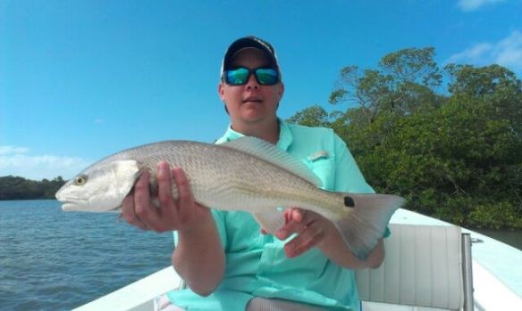 Matt with another healthy redfish caught and released with Capt. Ben Geroy last week!