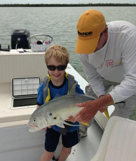 This fish was a handful for 8 year old angler Tanner Neftling!