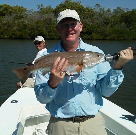 Wynn follows up with another nice one from under the mangroves!