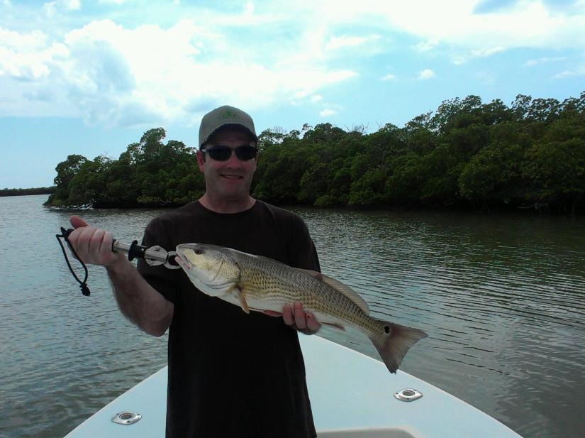 A nice redfish caught with Capt. Ben Geroy on 4/18/2013