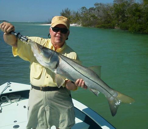 Bryant Garner with a nice 35 inch snook released with Capt. Todd Geroy on 5/24/2013