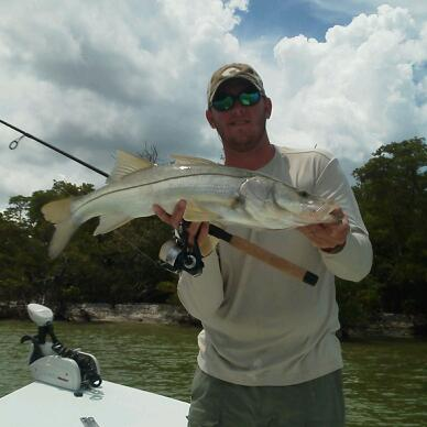 Capt. Ben Geroy with a nice June snook
