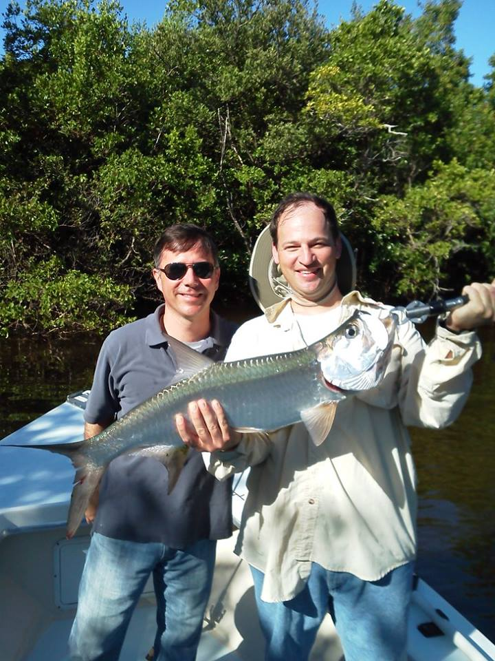 A juvenile backcountry tarpon completed Jay's