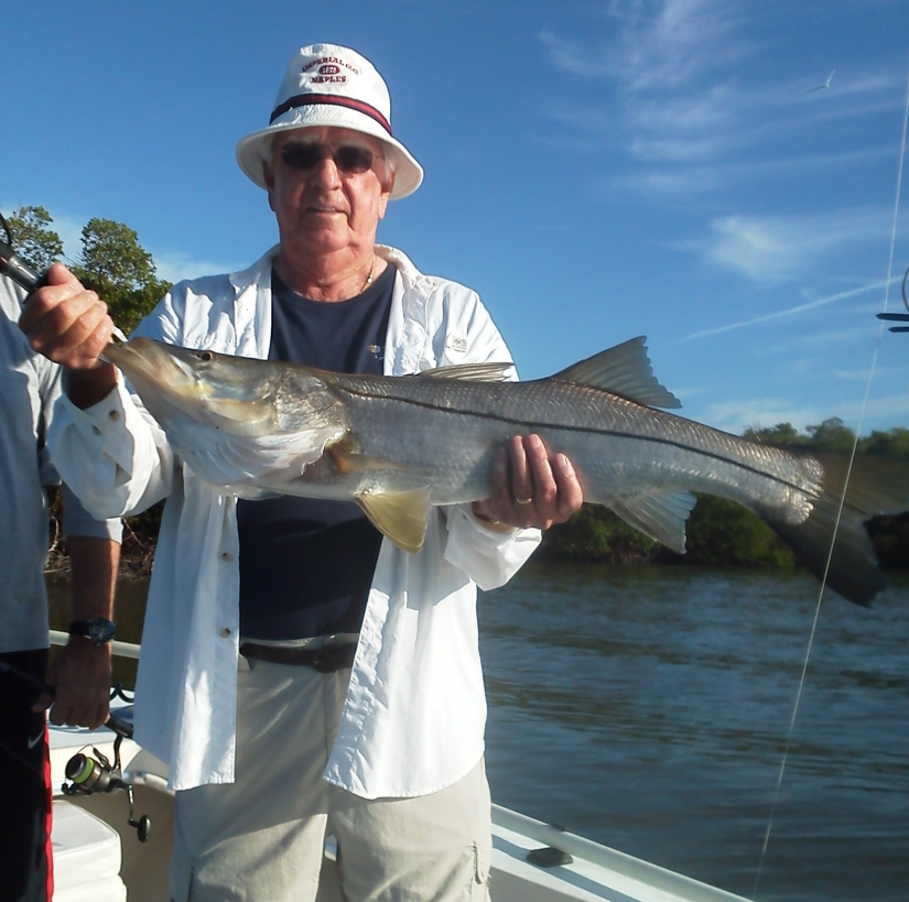 Jim McCann released this 38 inch snook with Capt. Todd on Nov. 1