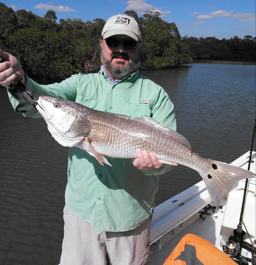 Dan with a 30 inch redfish last Friday...