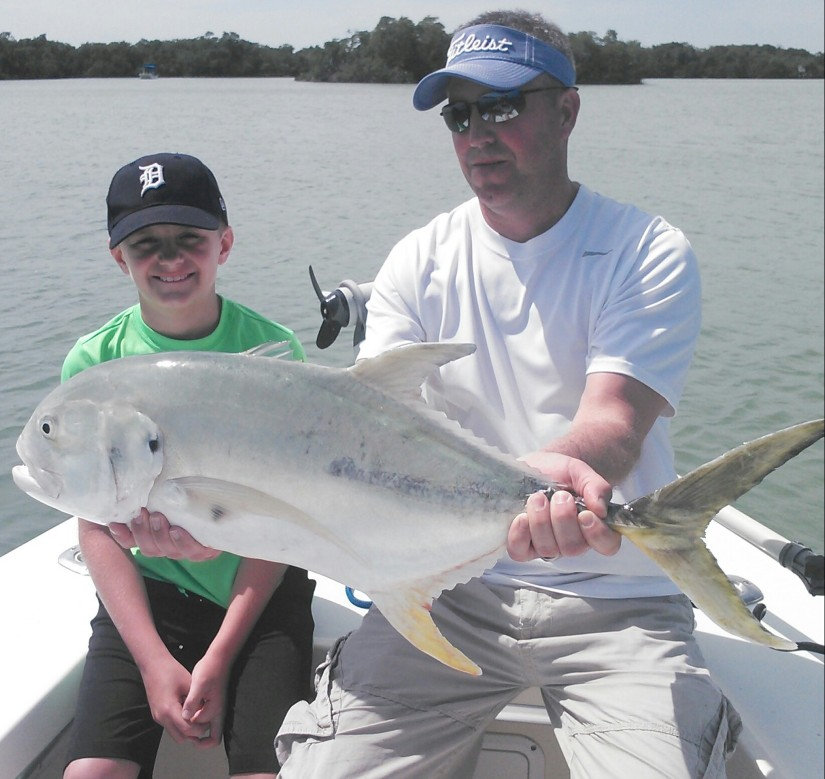Mike helps Nick with a giant jack crevalle!