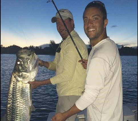 Cody York with his first tarpon released 9/4/2014