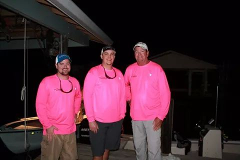 Team Longhorn ready to fish the 2014 Redsnook Tournament