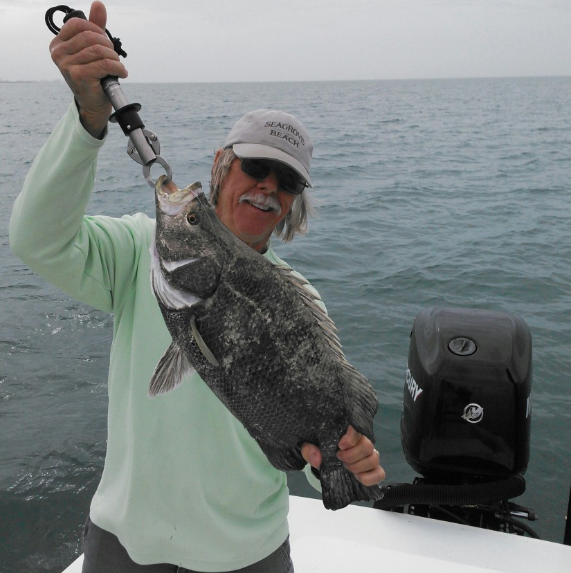 Mike Milano was treated to this nice tripletail on a trip early last week