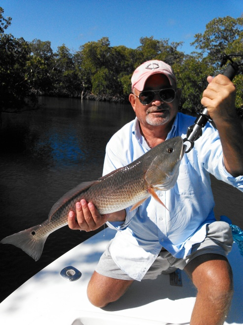 Mike Dyer with a nice redfish before release