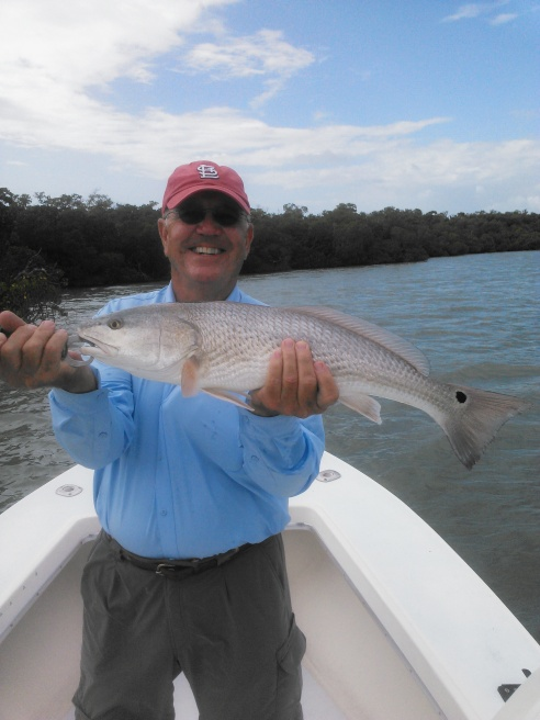 Bob Messey has a knack for catching nice redfish. Here he is with a 26.5 incher