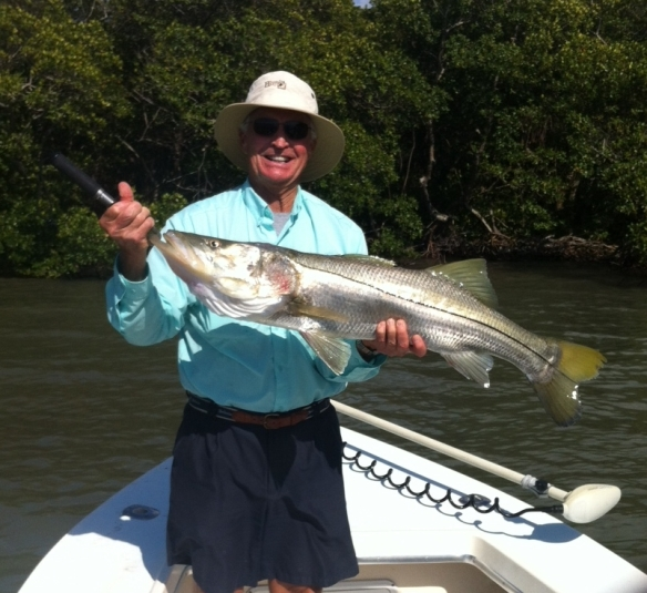 Tom Iversen with a beautiful 26 lb. snook