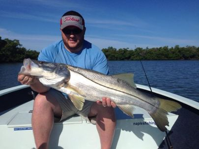 Nice summer snook with Capt. Ben Geroy