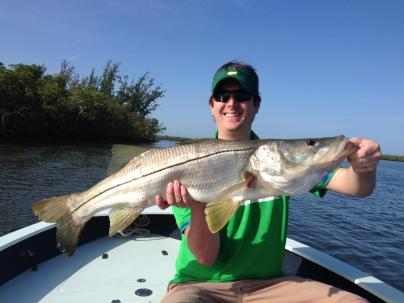 July snook with Capt. Ben Geroy.