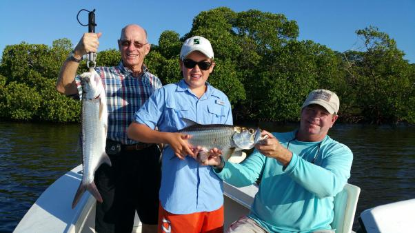 Juvenile tarpon provide great late summer action in the SW Florida backwaters!