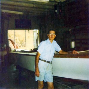 Willy Roberts in his shop 1982